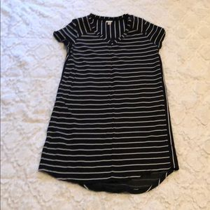 NWT Black and white striped dress